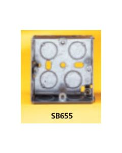 Appleby SB655 Flush Steel Installation Box, 1 gang, 25mm deep