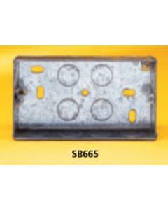 Appleby SB665 Flush Steel Installation Box, 2 gang, 25mm deep