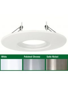 AU-AP600SN Satin Nickel Fixed 85mm - 145mm Downlight Adaptor Plate for Aurora i10 Fixed LED Downlights
