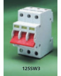 Crabtree 125SW3 125A Triple Pole Switch Disconnector