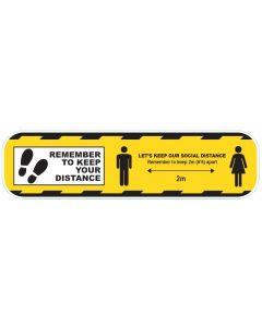 CVSDY Coronavirus COVID19 Social Distance Floor Sticker Yellow 600mm - Buy online from Sparkshop