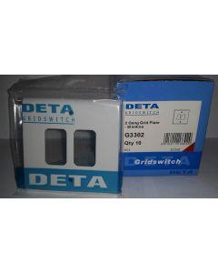 Deta G3302 2G White Grid Plate