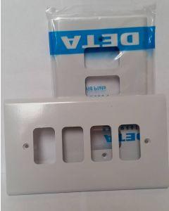 Deta G3304 4G White Grid Plate