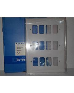 Deta G3308 12G White Grid Plate
