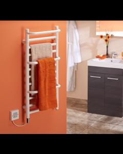 Dimplex CPTSW Compact Stepped Stylish Towel Rail IPX5 120W 400mm White