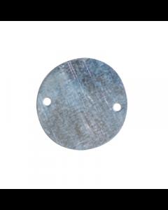 Galvanised Circular Box Lid Light 20mm/25mm