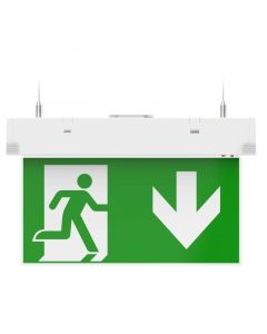 Kosnic EESN0103SUS Hanging Exit Sign with Multiple Mounting Positions- Buy online from Sparkshop