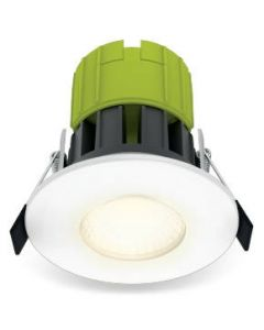 Luceco EFT60W30-01 Downlight, LED Eco Fixed Fire Rated Dimmable, c/w Bezel 3000K IP65