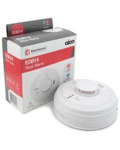 Aico EI3014 Heat Alarm, Mains, 10Yr Lithium Back-up Easi-fit Base