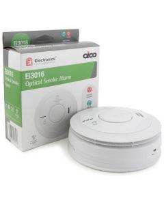 Aico EI3016 Smoke Alarm, Optical Mains, 10Yr Lithium Back-up Easi-fit Base