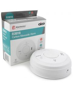 Aico EI3018 Carbon Monoxide Alarm, Mains, 10Yr Lithium Back-up Easi-fit Base