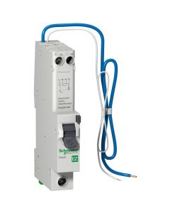 Schneider EZ9D16820 Easy9 RCD with Overcurrent Protection - 1P + Ns - 20 A - B Curve - 6000 A - 30mA - Buy online from Sparkshop