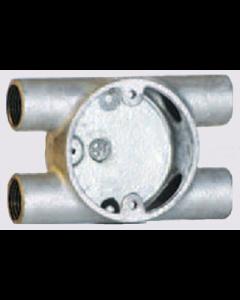 Galvanised 20mm 4 Way H Box