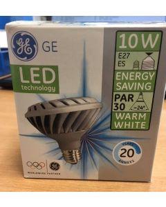 GE Lighting LED-PAR30/830/220-240V/FL/E27 LED 10W E27 PAR30, 24° Warm White