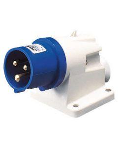 Gewiss GW60404 3 Pin IP44 90° Appliance Inlet, 2P+E, 16A, 230V, 6H
