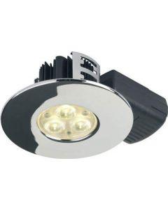 Collingwood Halers DL280CRNW H2 Lite 240V LED IP65 Fire-rated Downlight Chrome 4000K