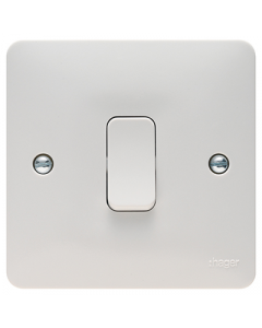 Hager Sollysta WMDP84 White Moulded 20A Double Pole Switch