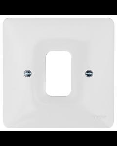 Hager Sollysta WMGP1 1 Gang White Moulded Grid Plate