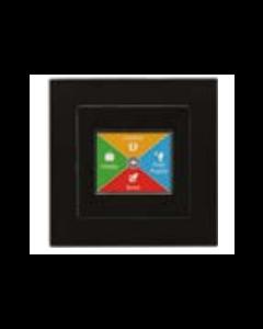 Heat Mat TOU-BLK-BLCK 16A NGTouch Premium Touchscreen Thermostat Black /Black glass