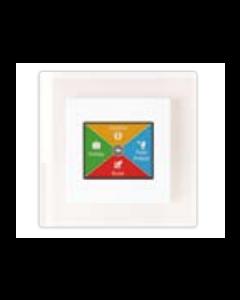 Heat Mat TOU-WHT-WHTE 16A NGTouch Premium Touchscreen Thermostat White /White glass