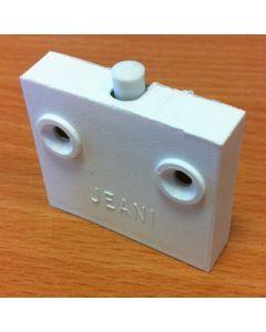 Jeani 142W Door Switch, Surface, Push to Break, 1A, White