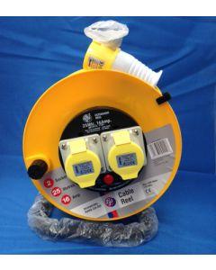 Schneider Electric Jojo JJR22516 25m 16A 110V 2 Socket Open Cable Reel