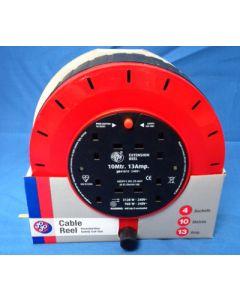 Schneider Electric Jojo JJR41013 10m 13A 4 Socket Cassette Cable Reel