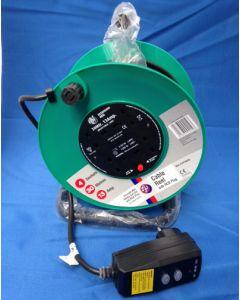 Schneider Electric Jojo JJR43013RCD 30m 13A  4 Socket Open Cable Reel c/w RCD Plug