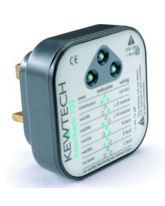 Kewtech KEWCHECK103 Socket Tester with Audible Tone