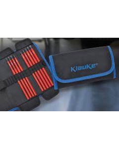 Klauke KL390TB9 Accessory Kit, 9 Piece VDE Blade Set in Roll Pouch