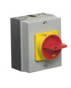 Europa Components LB204P 20A 4 Pole IP65 Enclosed Rotary Isolator (Insulated Enclosure)  -Buy online from Sparkshop
