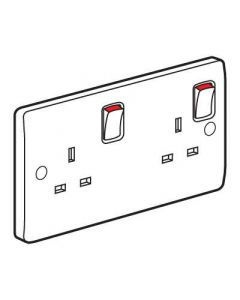 Legrand Synergy 730070 2 Gang 13A Switched DP Socket