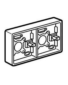 Legrand Synergy 736413 2 x 1G Plastic Surface Mounting Box, 35mm