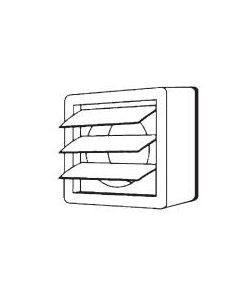 Manrose 1269 Kit, Window Vent c/w Ext B/D Shutters, For XF100/MH Fans