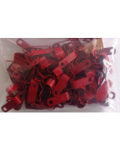Metal P clips for Fireproof cable for 1.0mm and 1.5mm 2c+e Red (pack of 100) (AP7R)