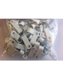 Metal P clips for Fireproof cable for 1.0mm and 1.5mm 2c+e White (pack of 100) (AP7W)