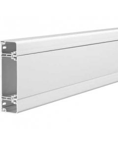 Mita CL3W White UPVC 145mm x 40mm x 3m, 3 Compartment Cableline 40 CL Dado Trunking