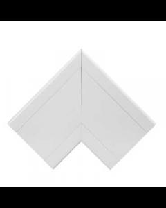 Mita CLF3W White UPVC Flat Angle