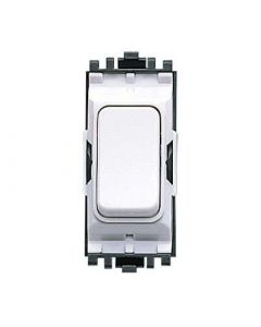 MK Logic K4892WHI Grid Switch, 2 Way SP, 20A, White