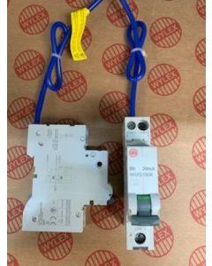 Wylex NHXS1B06 RCBO, SP&N Single Module B Curve Size: 6A 30mA