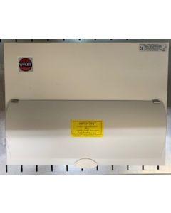 Wylex NM1206FLEXS Consumer Unit, Main Switch c/w SPD & 12W Flex, Metal Cased