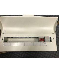 Wylex NM1706FLEXS Consumer Unit, Main Switch c/w SPD & 17W Flex, Metal Cased