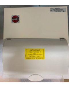 Wylex NM606FLEXS Consumer Unit, Main Switch c/w SPD & 6W Flex, Metal Cased