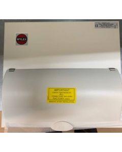 Wylex NM906FLEXS Consumer Unit, Main Switch c/w SPD & 9W Flex, Metal Cased
