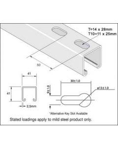 Unistrut Channel P1000TX3, LENGTH 3 metre