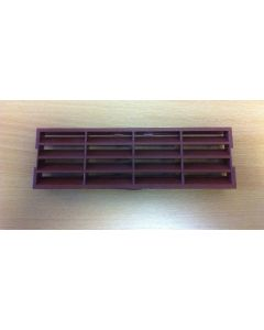 Polypipe 2316T Domus, Supertube, Rigid Duct, 204 x 60mm, Outlet Airbrick Fascia, Terracotta