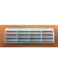 Polypipe 2316W Domus, Supertube, Rigid Duct, 204 x 60mm, Outlet Airbrick Fascia, White