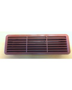 Polypipe Domus 501T, Supertube, Rigid Duct, 204 x 60mm, Outlet Airbrick With Damper, Terracotta
