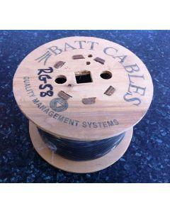 RG58 Black 50 Ohm Coax Cable