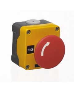 Europa Components RM1BS5642 1N/C 60mm Metal Clad Emergency Stop Button Twist Release - Buy online from Sparkshop